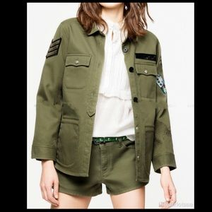 ZADIG VOLTAIRE Military Cotton Jacket With Patches